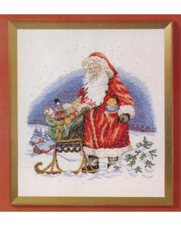 Kirjontapakkaus Taulu Joulupukki