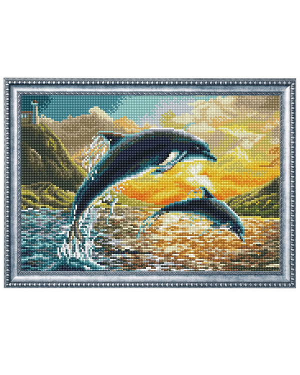 Diamond Dotz Frie delfiner