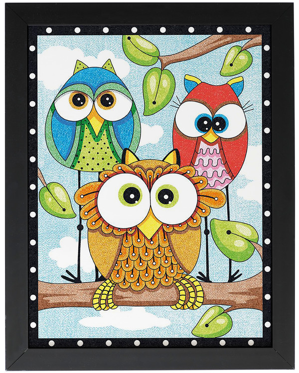 Paint by numbers Owl trio
