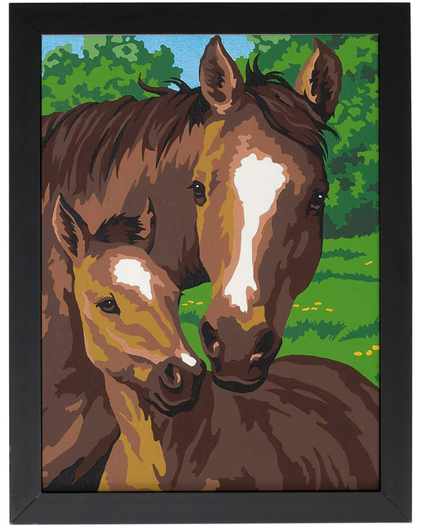 Paint by numbers Mare and foal