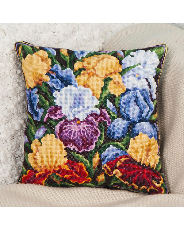 Broderikit Pude Blomster