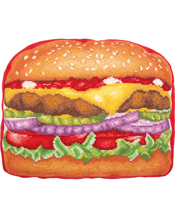 Broderikit Pude Hamburgere