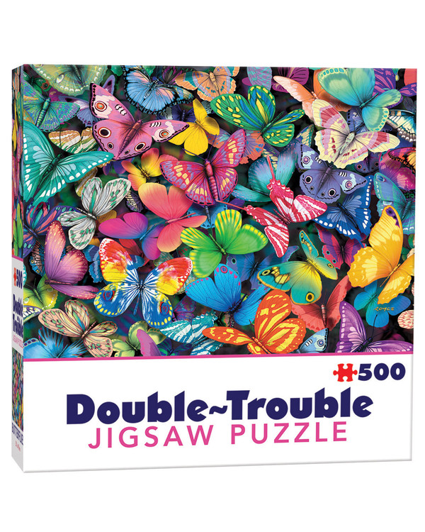 Dubbelsidigt Pussel Fjärilar 500 bitar