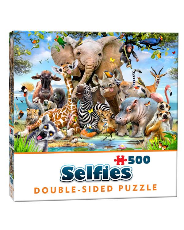 Dobbeltsidig Puslespill Selfie 500 biter