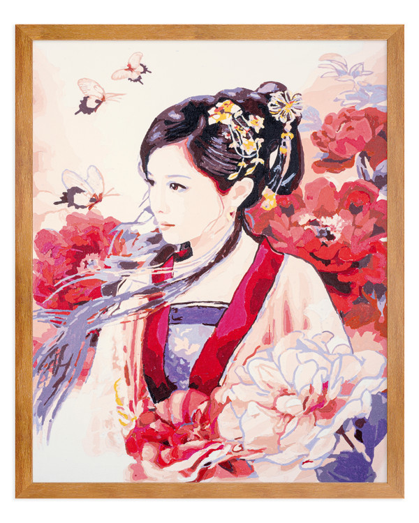 Paint by numbers Beautiful asian lady