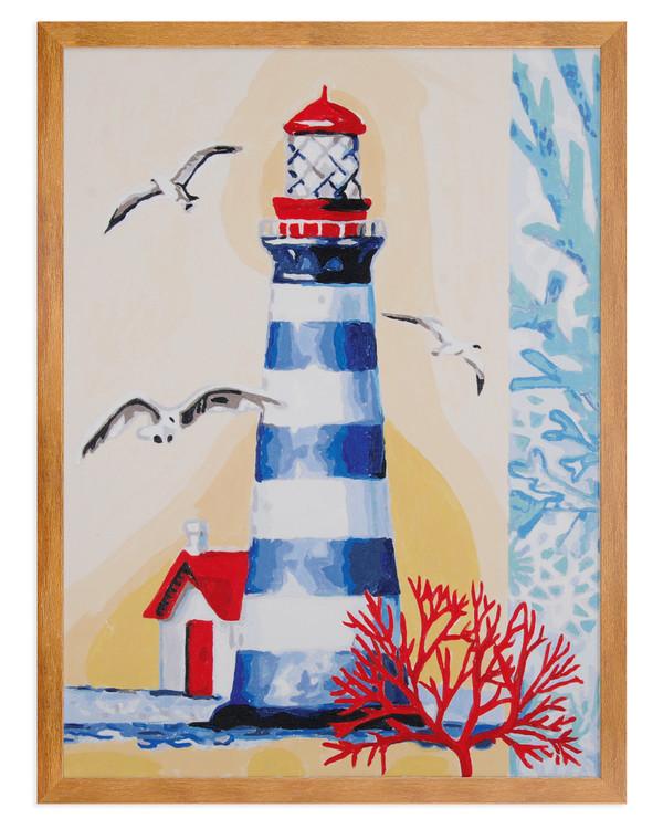 Paint by numbers Fyr på kusten