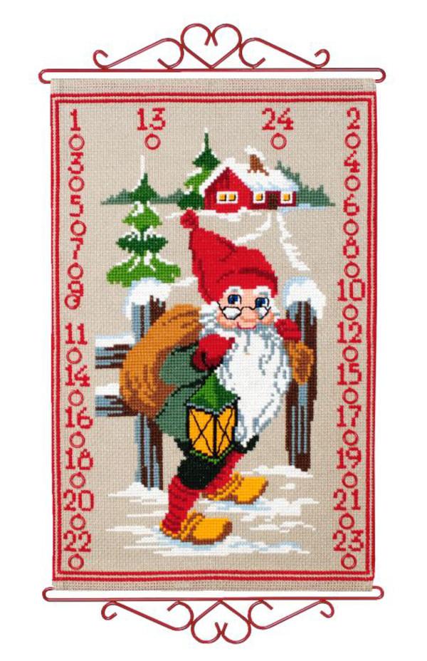 Broderipakke Kalender Julegavesekken