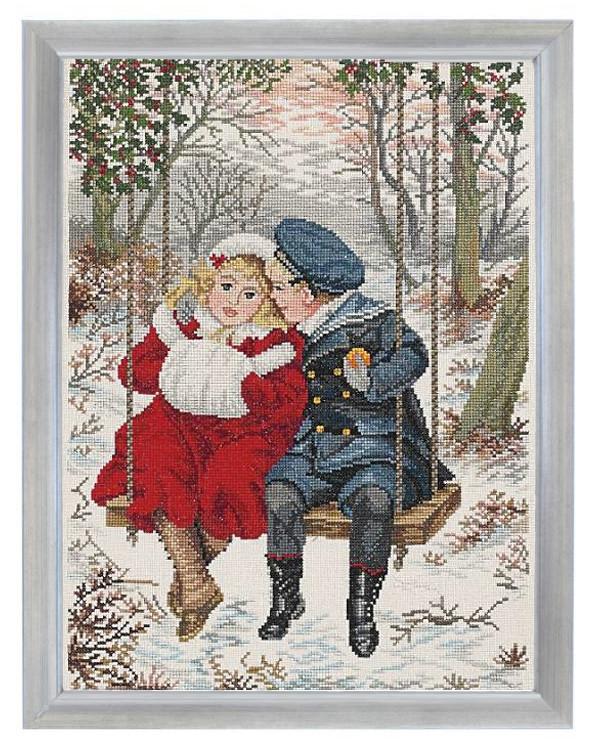 Broderipakke Bilde Første Kjærlighet