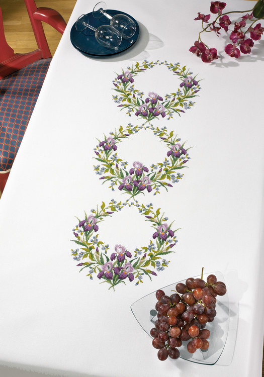 Middagsduk Blomsterkranser