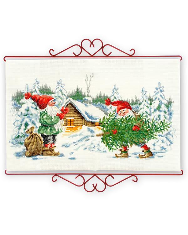 Veggteppe Juletrehogst