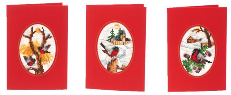 Joulukortti Punatulkku 3 kpl/pakkaus