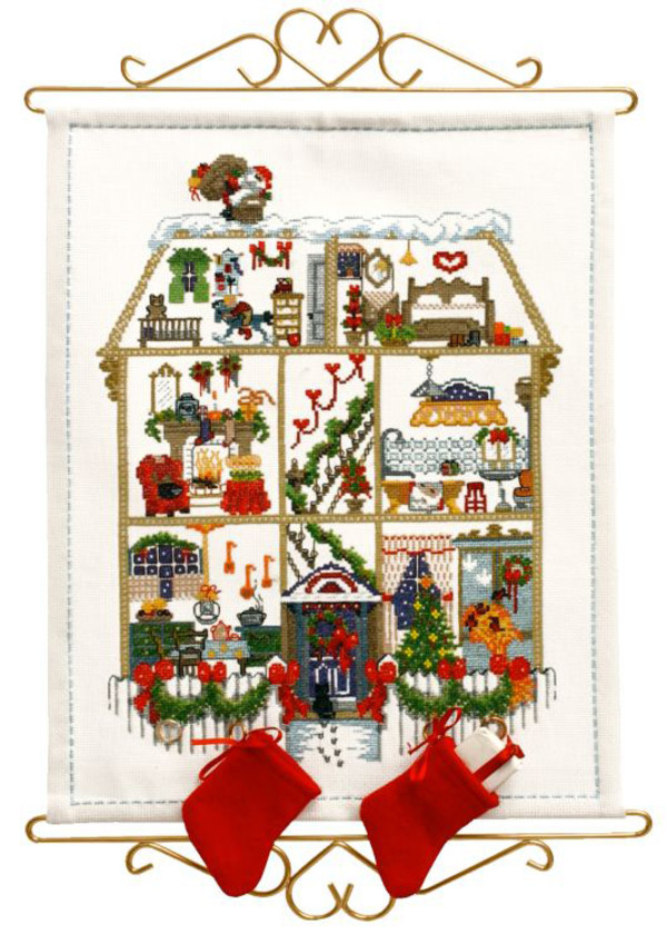 Broderikit Kalender Julhuset