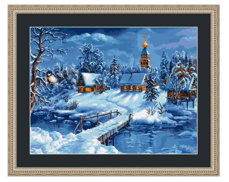 Bilde Frossent vinterlandskap