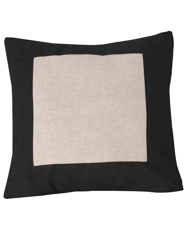 Tyynynpäällinen musta/valkaisematon