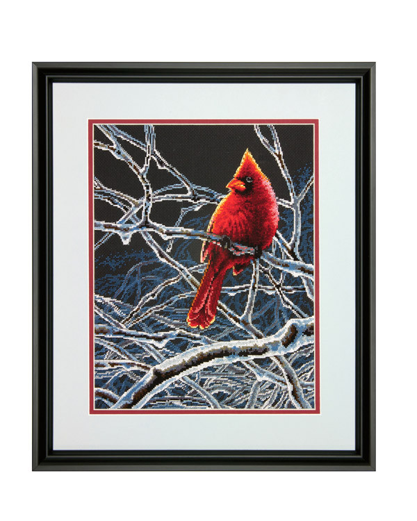 Broderikit Tavla Färggrann kardinal