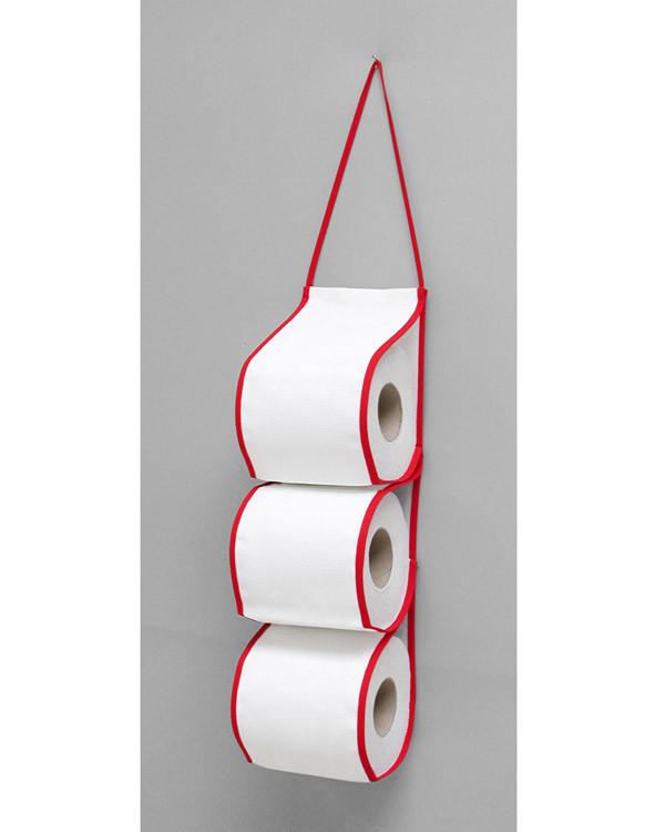 WC-paperiteline punainen  ilman lankoja ja kuviota