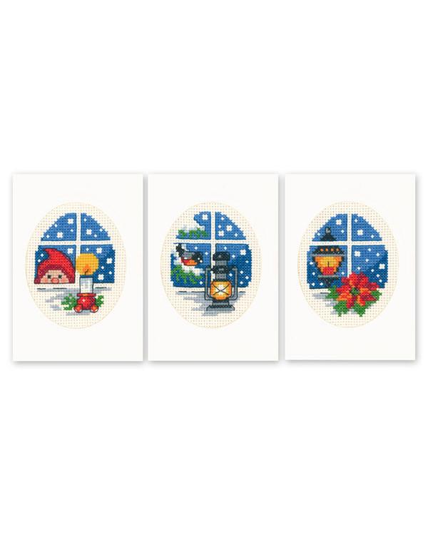 Kort Julevindue 3-pak