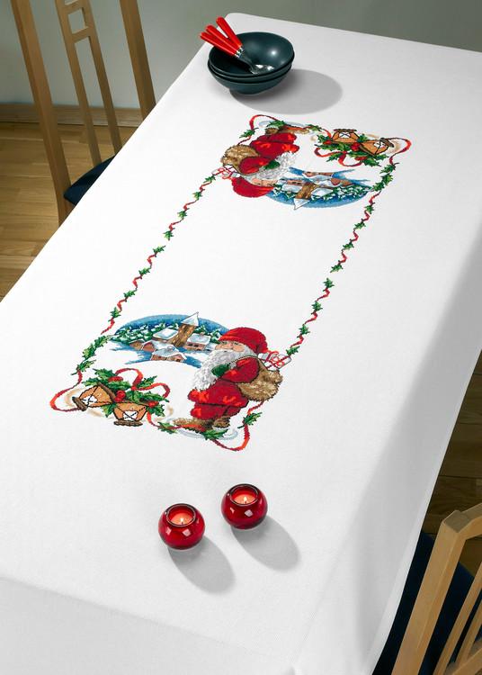 Iso pöytäliina Jouluaattoilta