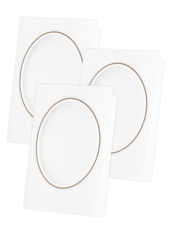 Kort vita 3-pack utan garn och mönster