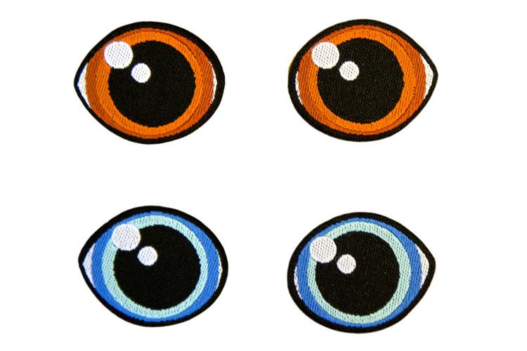 Stoffmerke øyne