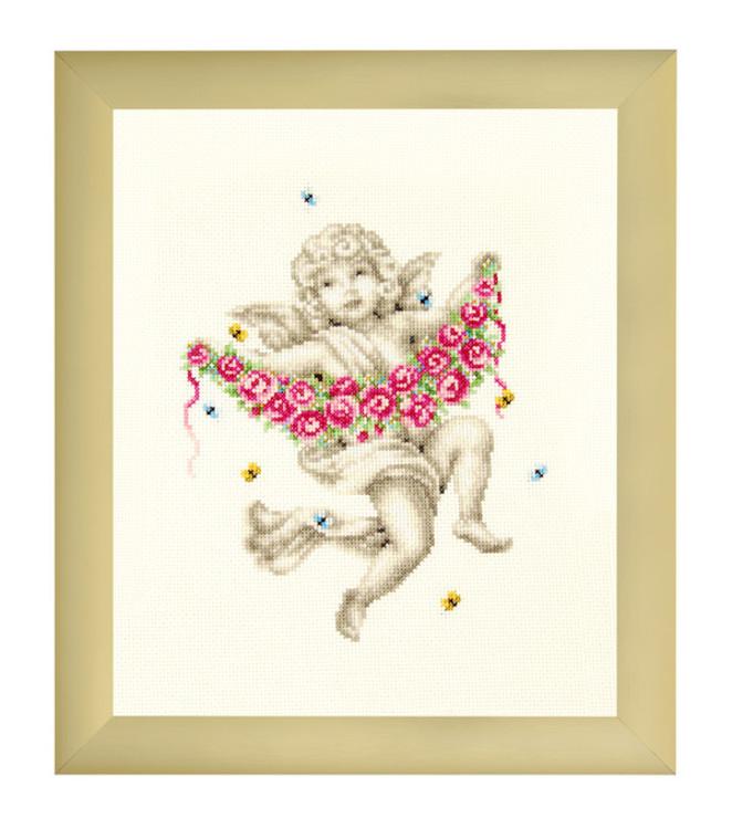 Bilde Engel med rosegirlander
