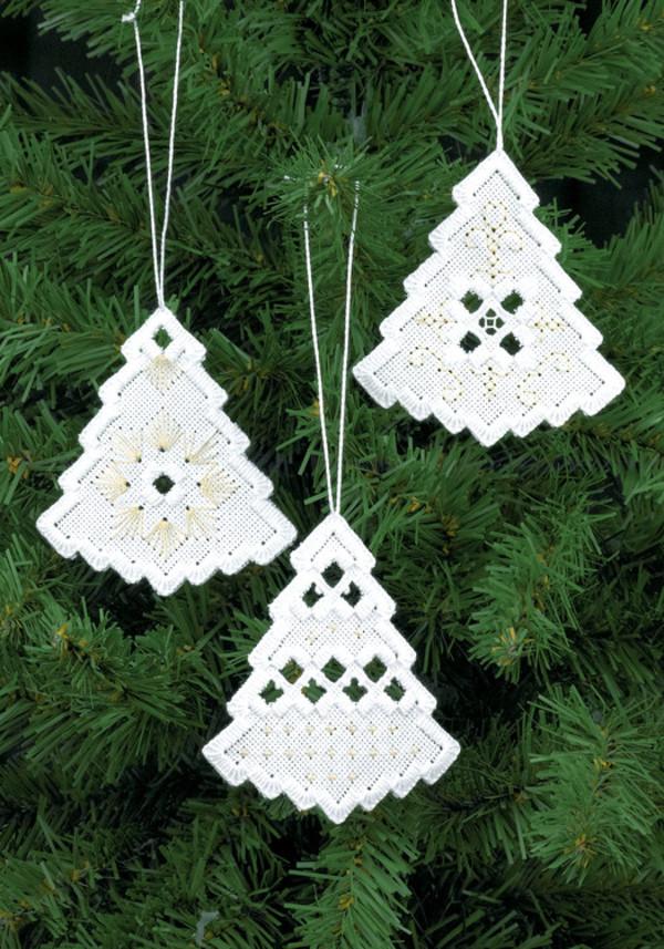 Juletetræer Sølv 3-pak