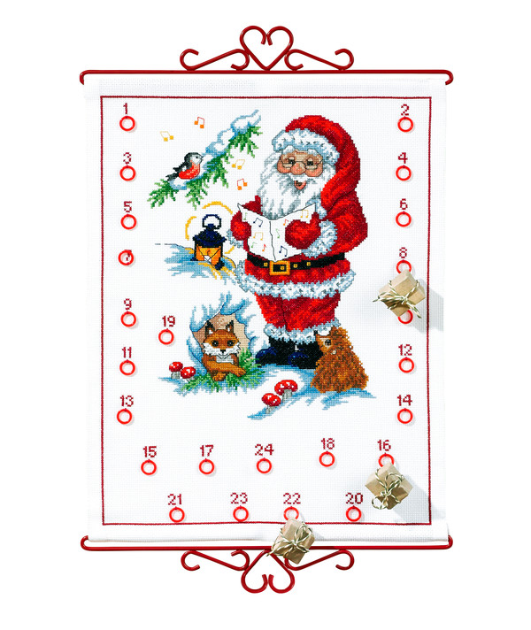 Stickpackung Kalender Singender Weihnachtsmann