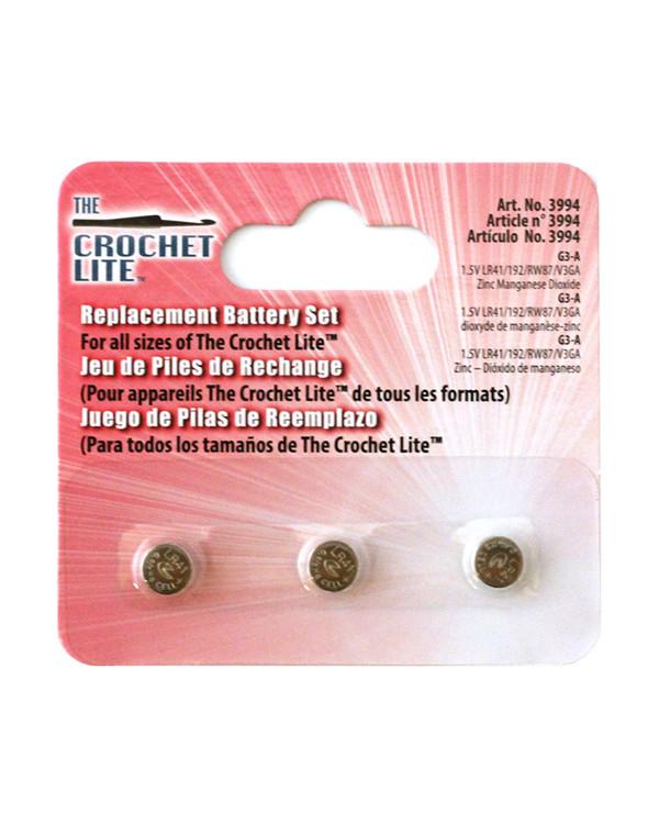 Batterier til heklenål/pinner