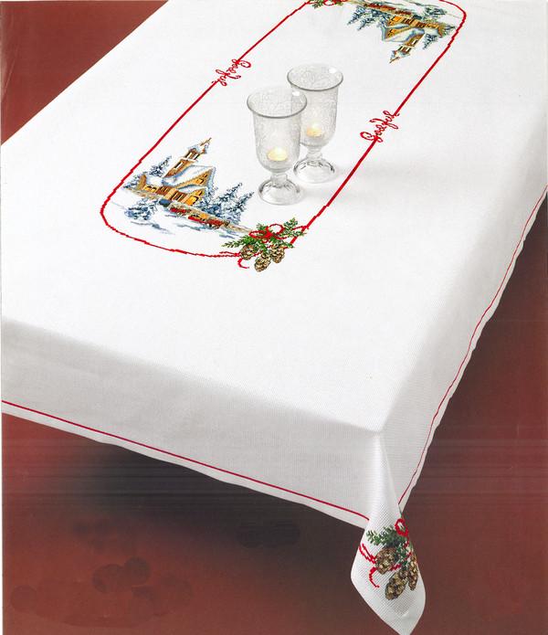 Broderikit Middagsduk Kyrkans ljus