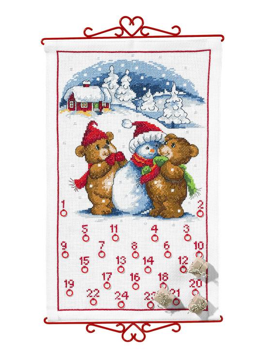Broderikit Kalender Björnar i snön