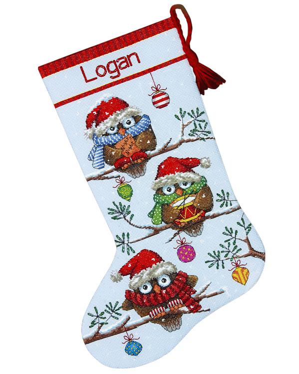 Julstrumpa Ugglor redo för jul