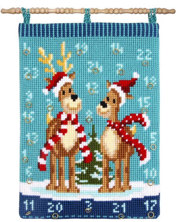 Kalender Rentiere in Weihnachtskleidung