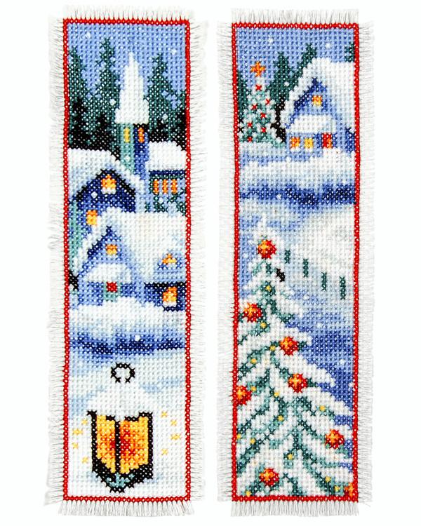 Kirjanmerkit Katselen lumisadetta 2/pak