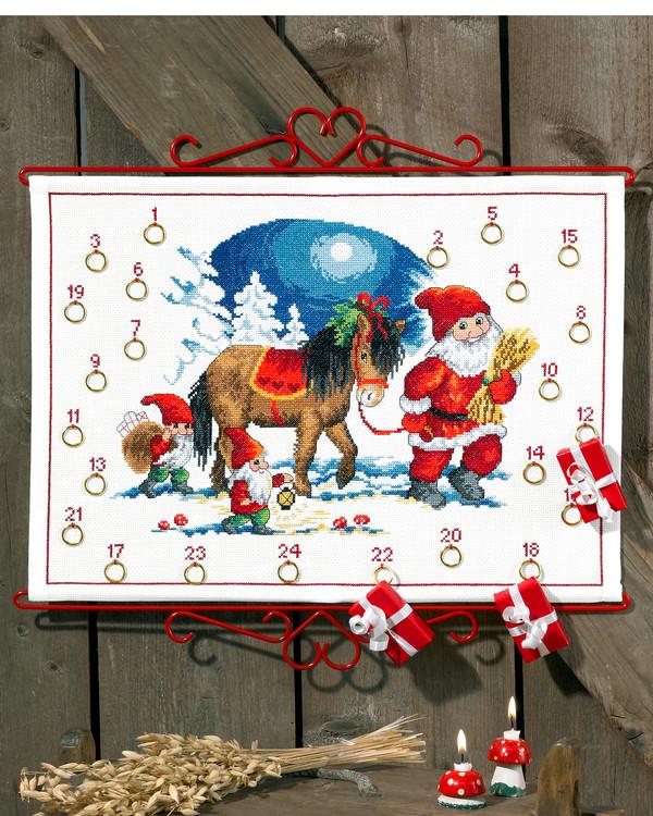 Kalenteri Joulupukin hevonen