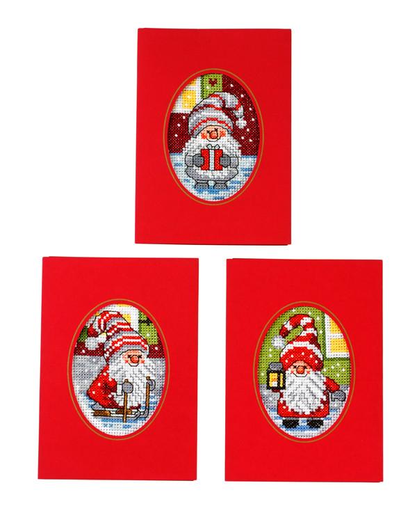 Julekort Søde nisser  3-pak