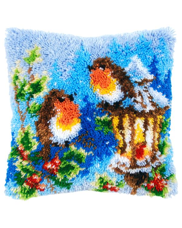 Ryapude Rødkælke i sneen