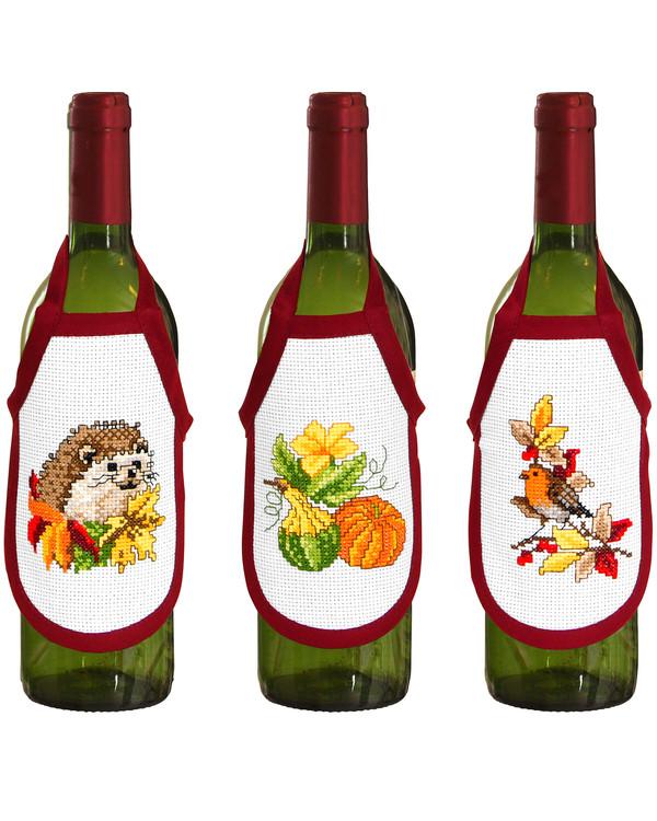 Flaskeforklæder Efterårets farver  3-pak