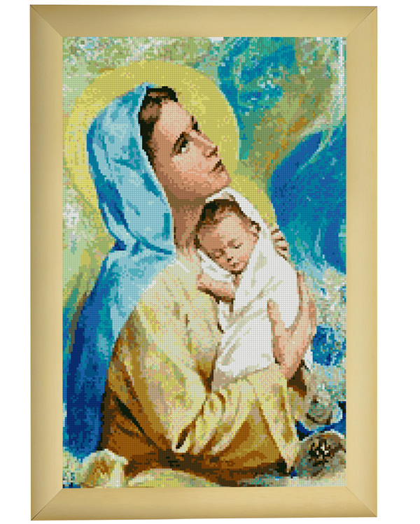 Broderikit Tavla Maria och Jesusbarn