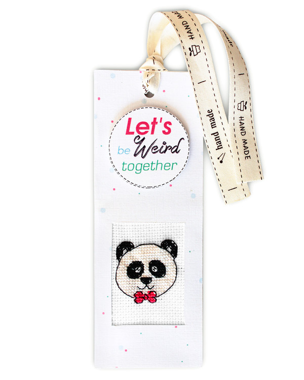 Bokmärke Stilig panda