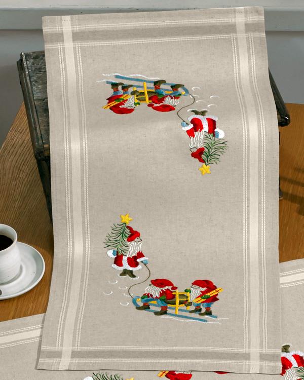 Kaitaliina joulupukki ja tontut langat mukana tai ilman lankoja