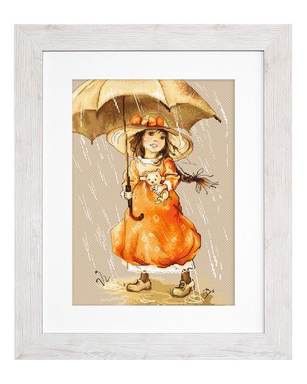 Bild Unter dem Regenschirm