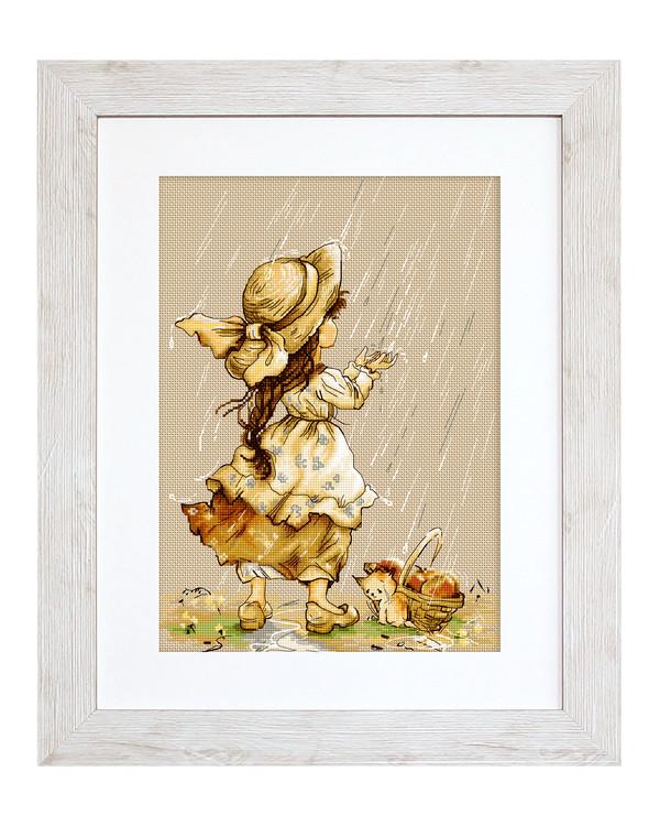 Billede Ude i regnen