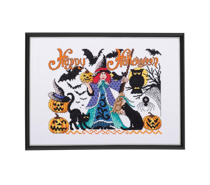 Broderikit Tavla Happy Halloween