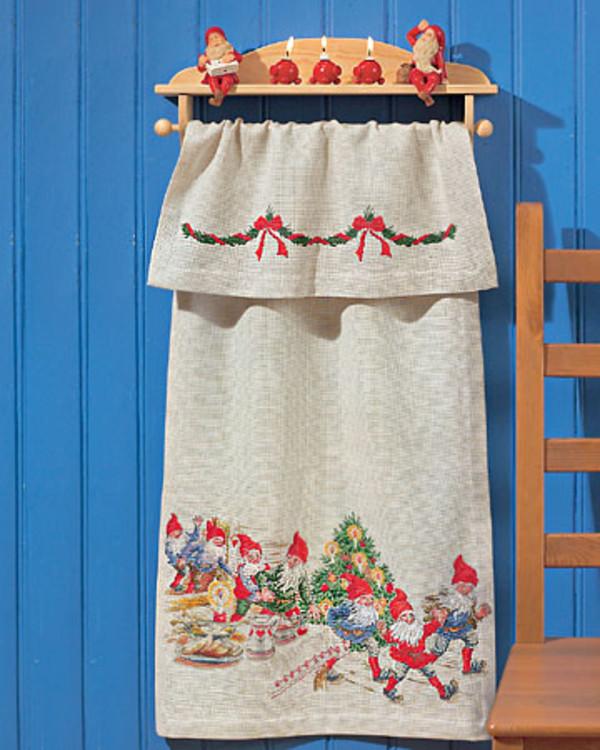 Pyntehåndkle Jul i kjøkkenet