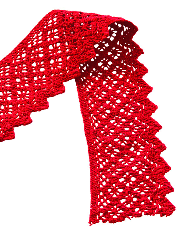 Spets röd 59 mm