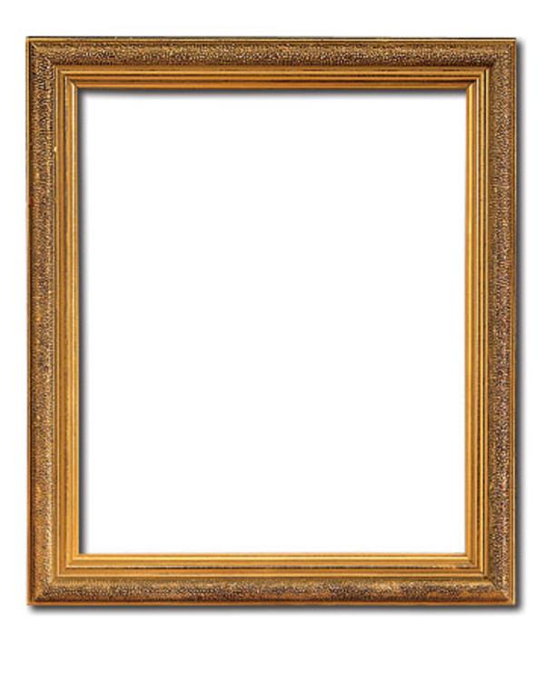 Ram guld 21x24 cm