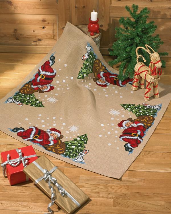 Tannenbaumdecke Schlafender Weihnachtsmann