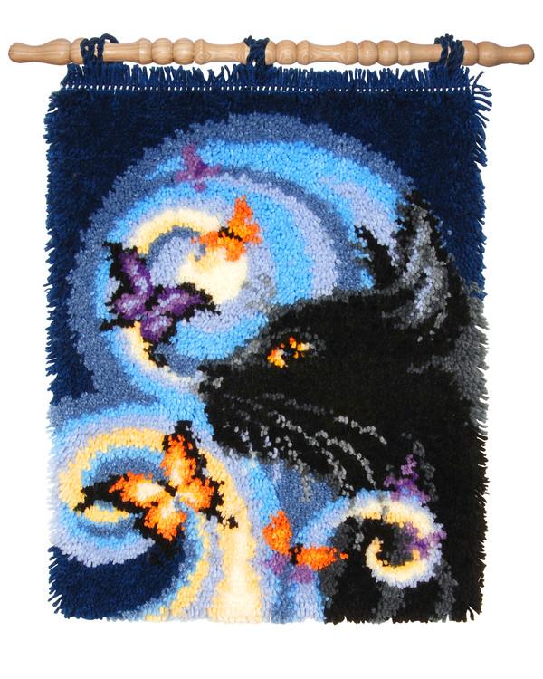 Seinäryijy/matto Musta kissa