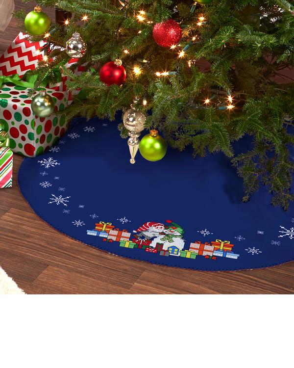 Juletræstæppe Julegaver