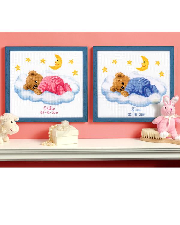 Fødselsbilde Sovende bamse